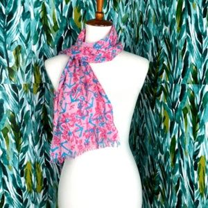 Lilly Pulitzer Woman's Pink Scarf